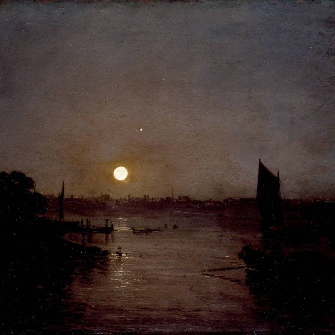 \Moonlight, a Study at Millbank exhibited 1797 by Joseph Mallord William Turner 1775-1851\