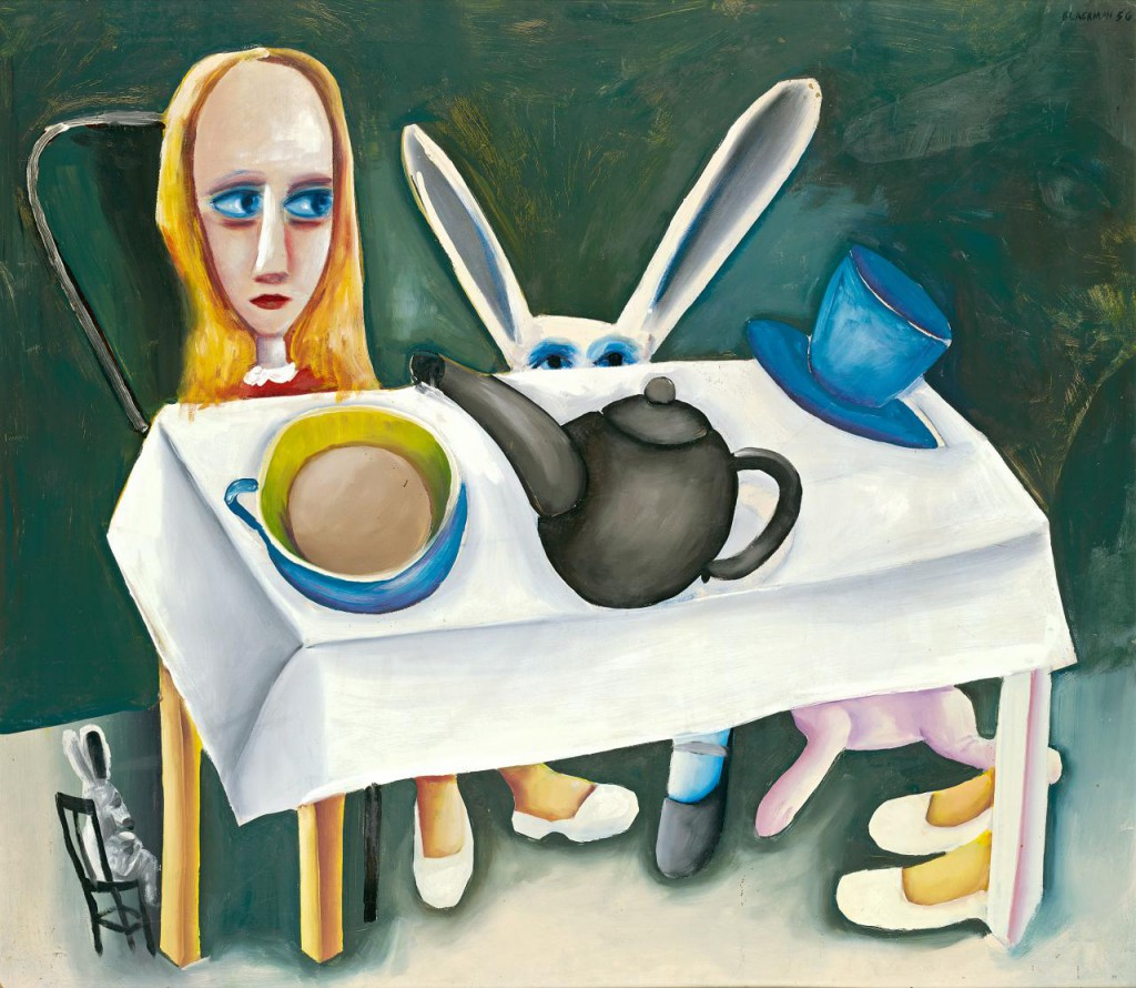 Feet Beneath the Table by Charles Blackman