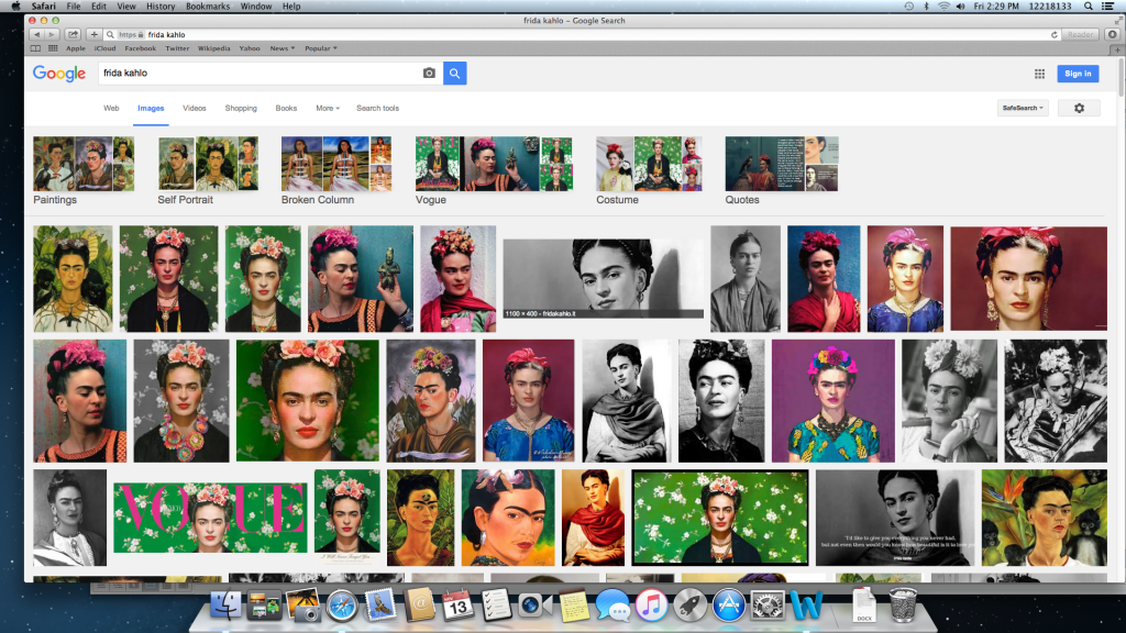 Image search of Frida Kahlo